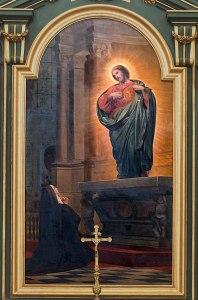 800px-CathC3A9drale_Notre-Dame-de-l27Assomption_de_Montauban_-_Vision_de_Marguerite-Marie2C_religieuse_de_la_Visitation_par_Armand_Cambon_PM82000424